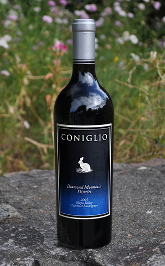 Coniglio Wines 2005 Diamond Mountain Cabernet Sauvignon 750ml Wine Bottle