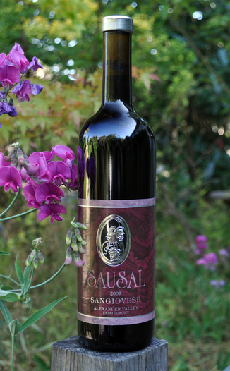 Sausal Winery (closed) 2007 Sangiovese 750ml Wine Bottle
