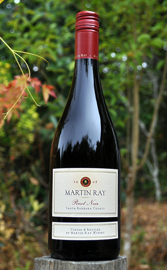 Martin Ray Winery 2008 Santa Barbara County Pinot Noir 750ml Wine Bottle
