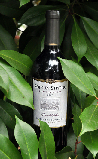Rodney Strong Vineyards 2007 Alexander Valley Cabernet Sauvignon 750ml Wine Bottle