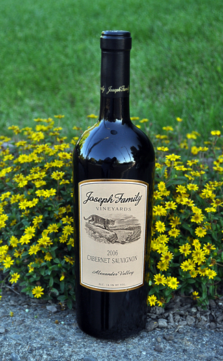 Joseph Family Vineyards 2006 Alexander Valley Cabernet Sauvignon 750ml Wine Bottle