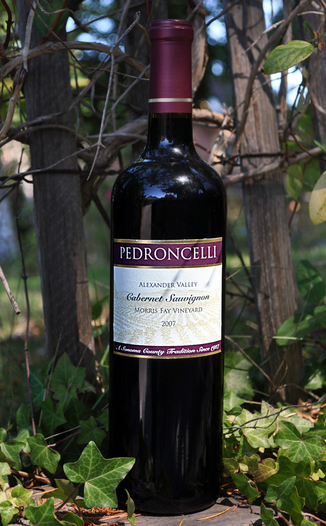 Pedroncelli Winery & Vineyards 2007 Morris Fay Cabernet Sauvignon 750ml Wine Bottle