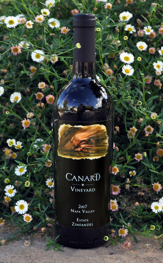Canard Vineyard 2007 Napa Valley Estate Zinfandel 750ml Wine Bottle