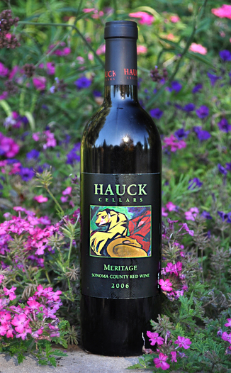 Hauck Cellars 2006 Sonoma County Meritage 750ml Wine Bottle