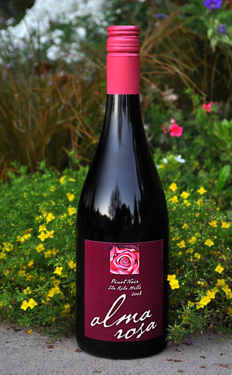 Alma Rosa Winery & Vineyards 2008 Sta. Rita Hills Pinot Noir 750ml Wine Bottle