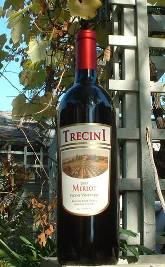 Trecini Cellars 2005 Russian River Merlot 750ml Wine Bottle