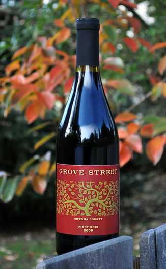 Grove Street Winery 2009 Sonoma County Pinot Noir 750ml Wine Bottle