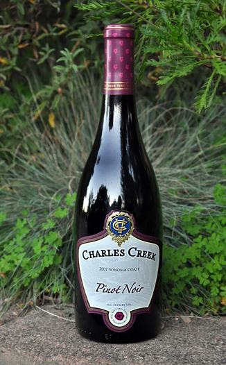 Charles Creek Vineyards 2007 Sonoma Coast Pinot Noir 750ml Wine Bottle