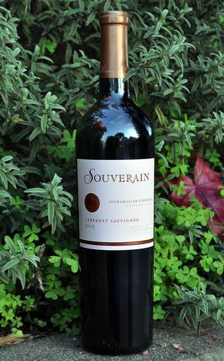 Souverain 2005  Stuhlmuller Vineyard Cabernet Sauvignon 750ml Wine Bottle