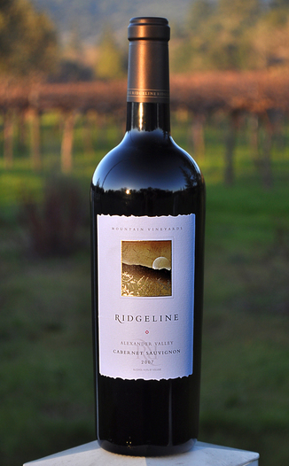 Ridgeline Vineyards 2007 Alexander Valley Cabernet Sauvignon 750ml Wine Bottle