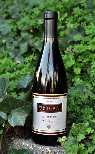 Vergari Wine 2007 Marin County Pinot Noir 750ml Wine Bottle