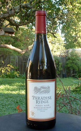 Paradise Ridge Winery 2006 Pinot Noir, Russian River Valley 750ml Wine Bottle