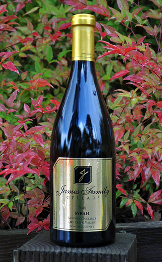 James Family Cellars 2008 Dry Creek Valley Syrah 750ml Wine Bottle