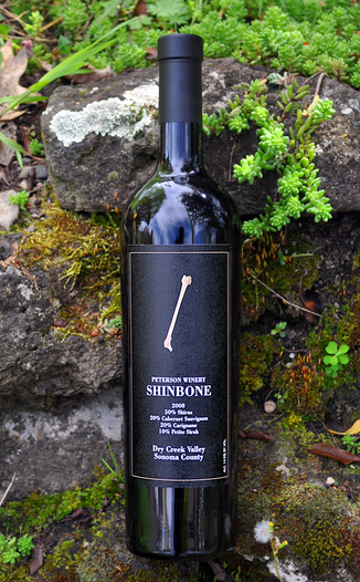 Peterson Winery 2008 Shinbone Shiraz/Cab Blend 750ml Wine Bottle