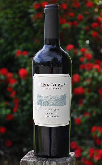 Pine Ridge Vineyards 2007 Napa Valley Merlot 750ml Wine Bottle