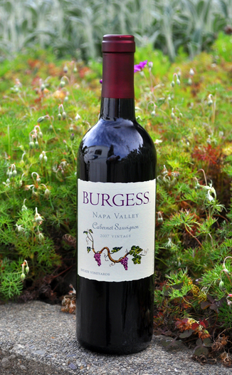 Burgess Cellars 2007 Estate Vineyards Cabernet Sauvignon 750ml Wine Bottle
