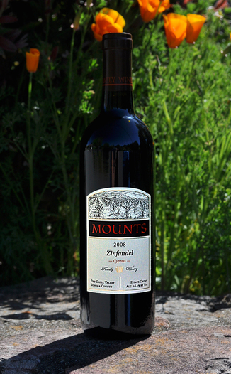 Mounts Family Winery 2008 Dry Creek Valley 'Cypress Block' Zinfandel 750ml Wine Bottle