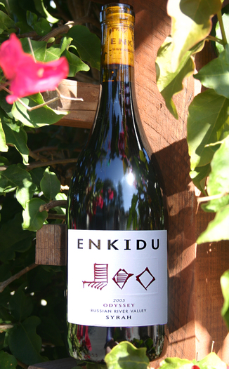 Enkidu Wines 2005 Syrah - Odyssey Vineyard  750ml Wine Bottle