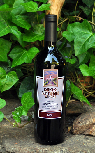 Rancho San Miguel Winery 2008 Old Vine Zinfandel 750ml Wine Bottle