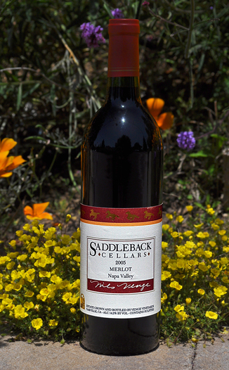 Saddleback Cellars 2005 Napa Valley Merlot 750ml Wine Bottle