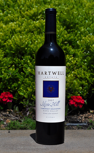 Hartwell Vineyards 2007 Misté Hill Cabernet Sauvignon 750ml Wine Bottle