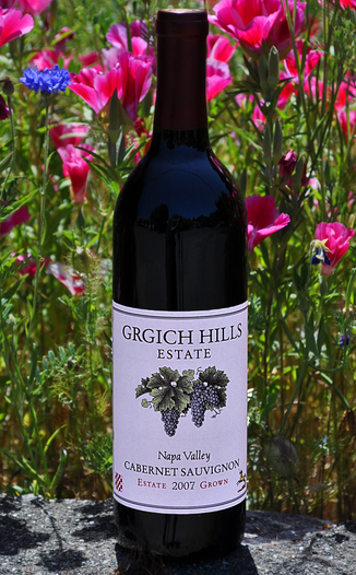 Grgich Hills Estate 2007 Napa Valley Cabernet Sauvignon 750ml Wine Bottle