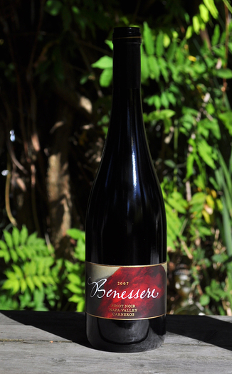 Benessere Vineyards 2007 Napa Valley Carneros Pinot Noir 750ml Wine Bottle
