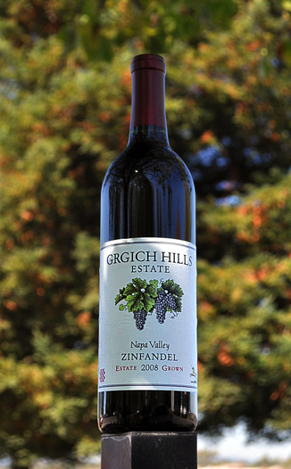 Grgich Hills Estate 2008 Napa Valley Zinfandel 750ml Wine Bottle