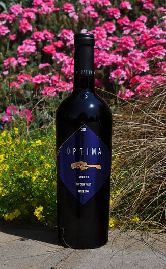 Optima Wine Cellars 2007 Dry Creek Valley Petite Sirah 750ml Wine Bottle