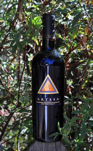 Artesa Vineyards and Winery 2007 Napa Valley Cabernet Sauvignon 750ml Wine Bottle