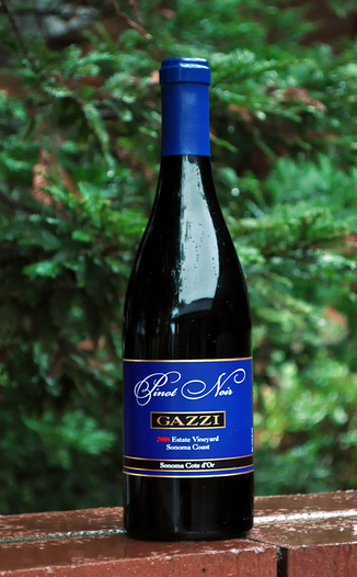Gazzi Estate Vineyards 2008 Sonoma Coast Pinot Noir 750ml Wine Bottle