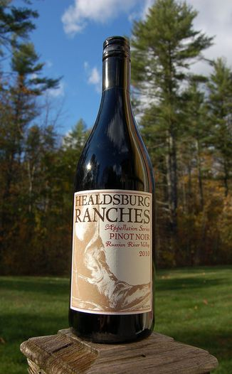 Healdsburg Ranches 2010 Appellation Series Russian River Valley Pinot Noir 750ml Wine Bottle