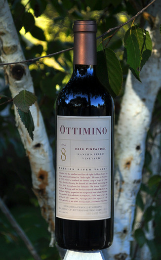 Ottimino 2006 Rancho Bello Vineyard Zinfandel 750ml Wine Bottle