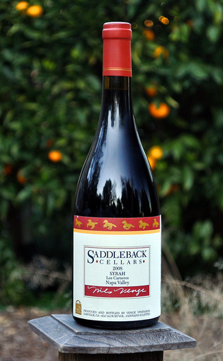 Saddleback Cellars 2008 Los Carneros Syrah 750ml Wine Bottle