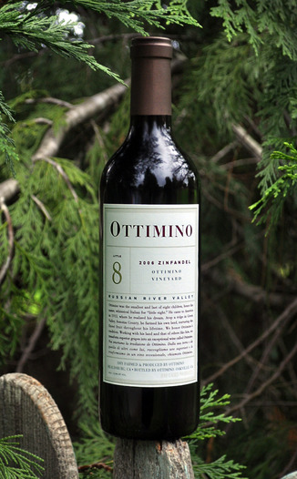 Ottimino 2006 Estate Vineyard Zinfandel 750ml Wine Bottle