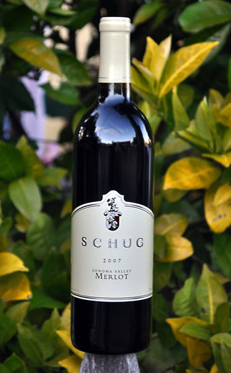 Schug Carneros Estate 2007 Sonoma Valley Merlot 750ml Wine Bottle