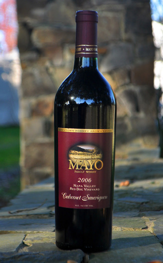 Mayo Family Winery 2006 Red Dog Vineyard Cabernet Sauvignon 750ml Wine Bottle