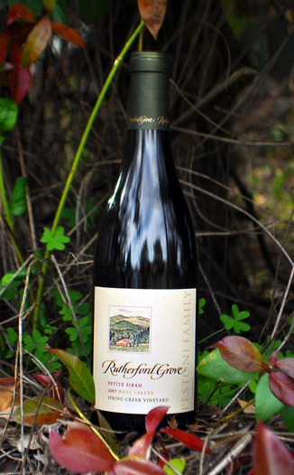Rutherford Grove 2007 Spring Creek Vineyard Petite Sirah 750ml Wine Bottle