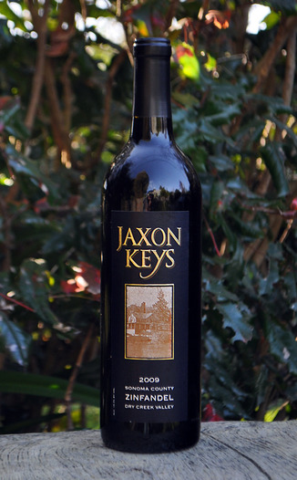 Jaxon Keys Winery 2009 Dry Creek Valley Zinfandel 750ml Wine Bottle