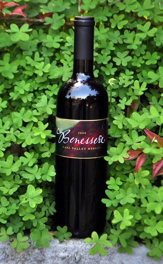 Benessere Vineyards 2009 Napa Valley Merlot 750ml Wine Bottle