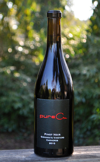 pureCru Wines 2010 Carneros Pinot Noir 750ml Wine Bottle