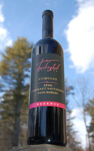 Twilight Cellars 2006 Cumulus Reserve Cabernet Sauvignon 750ml Wine Bottle