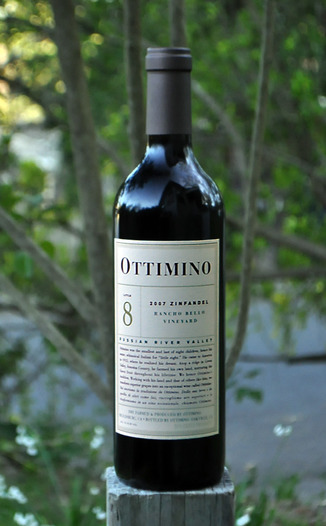 Ottimino 2007 Rancho Bello Vineyard Zinfandel 750ml Wine Bottle