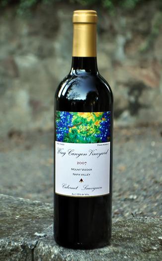 Wing Canyon Vineyard 2007 Estate Cabernet Sauvignon 750ml Wine Bottle