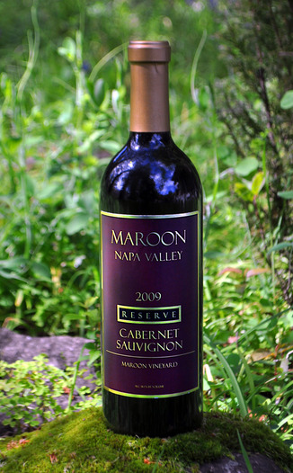 Maroon Wines 2009 Reserve Cabernet Sauvignon 750ml Wine Bottle