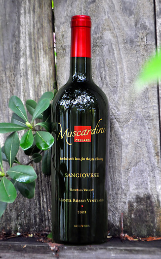 Muscardini Cellars 2009 Monte Rosso Vineyards Sangiovese 750ml Wine Bottle