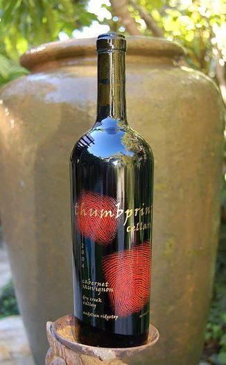 Thumbprint Cellars 2004 Cabernet Sauvignon 750ml Wine Bottle