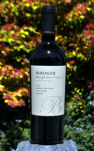 Beringer Vineyards 2006 Bancroft Ranch Howell Mountain Merlot 750ml Wine Bottle