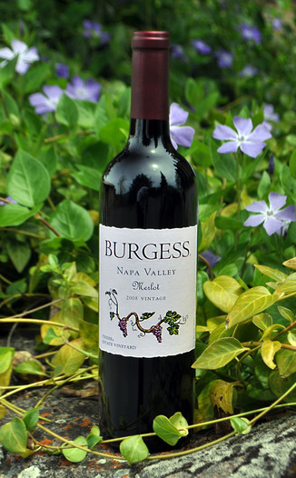 Burgess Cellars 2008 Napa Valley Merlot 750ml Wine Bottle