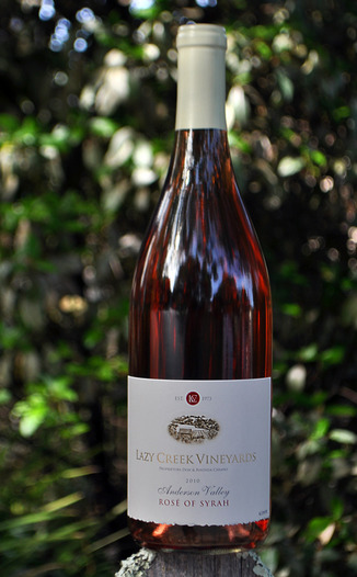 Lazy Creek Vineyards 2010 Rose of Syrah 750ml Wine Bottle